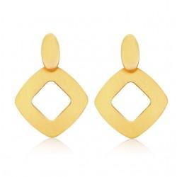 Pendientes geométricos de oro