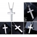Classic blank cross pendant with stainless steel necklace