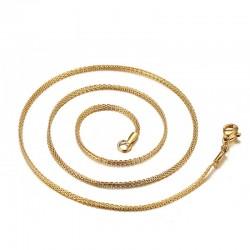 Collar unisex oro y plata acero inox