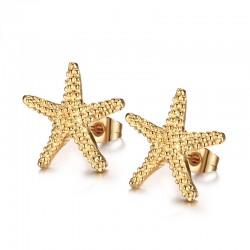 Orecchini a stella in oro