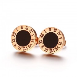 Roman numerals letters stud earrings