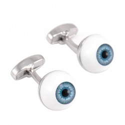 Blue eyeballs - cufflinks
