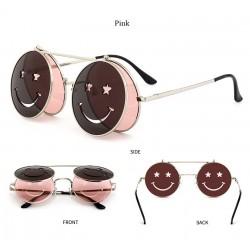 Steampunk Vintage Okrągłe Podwójne Soczewki Okulary Przeciwsłoneczne Unisex