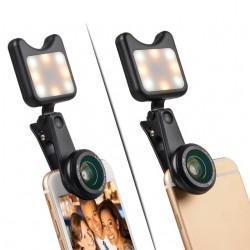 Kit lentes macro y luz led para iPhone 3 in 1