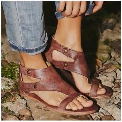 Sandales gladiateur pour femme de cuir