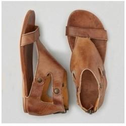 Sandalias gladiador para mujeres de cuero