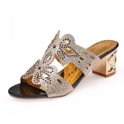 Sandales ouverts avec strass