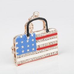 Kryształowa torebka - breloczek do kluczy