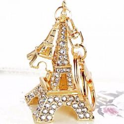 Porte-clès avec Tour Eiffel de cristal