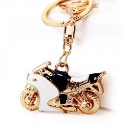 Motorcycle Enamel Crystal Keychain Keyring