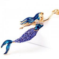 Kristall Meerjungfrau Schlüsselanhänger