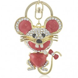 Crystal Mouse Keychain Keyring