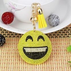Porte-clès emoji de cristal