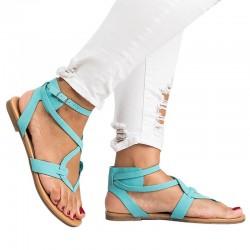 Sandalias planas de gladiador para mujer