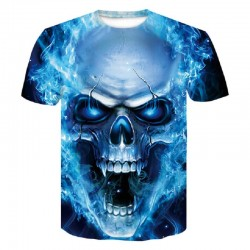 T-Shirt avec Crâne 3D pour Homme