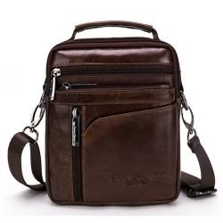 Genuine leather cowhide retro business crossbody bag