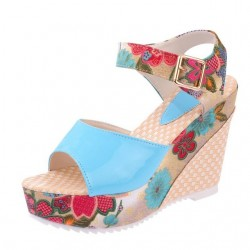 2018 Women Sandals Summer Platform Wedges Casual Shoes Woman Floral Super High Heels Open Toe Slippe