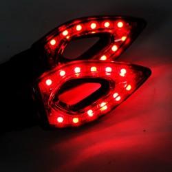 Waterdichte Universele 12 LED Motorfiets Richtingaanwijzers Lichten 2 Stuks