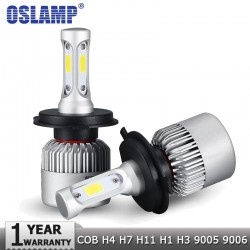 Oslamp COB 12V - 24V LED Headlight Hi-Lo Beam 72W 8000LM 6500K