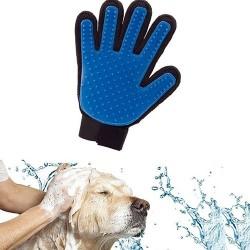 Silikonowa rękawica do mycia psa / kota - masaż - usuwanie - czesanie włosów