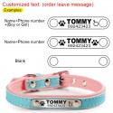 Puppy Cat Collars ID Tag Personalized Engraved Leather