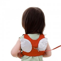 Dziecięca Smycz Anty-Zgubieniu Uprząż Ze Skrzydełkami Aniołka