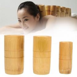 Tradycyjne Chińskie Bambusowe Przyssawki Do Masażu Akupunktury Anty Celulitowe Zestaw 3szt