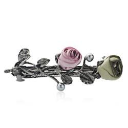 Spilla per capelli con rose cristallo