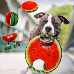 Hondenfrisbee - canvas touw - watermeloen speelgoed - 19 cm
