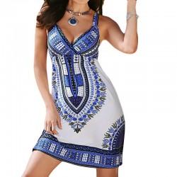 Etniczny styl mini sukienka