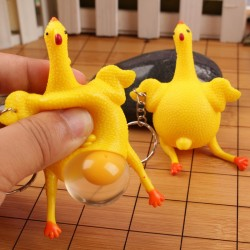 New Funny Spoof Tricky Gadgets Green Dinosaur Beans Toy Chicken Egg Laying Hens Crowded Stress Ball
