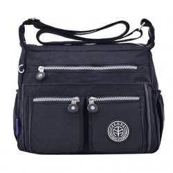 Waterproof nylon shoulder crossbody bag