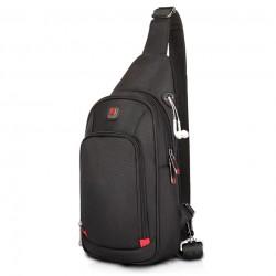 Waterproof nylon crossbody shoulder bag