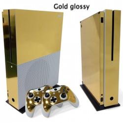 Xbox One S Konsola & Kontroler - winylowa złota naklejka