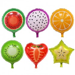Balony w kształcie owoców urodzinowa dekoracja 6 szt