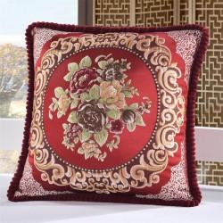 Copri cuscino in cotone con ricamo britannico 50 * 50cm