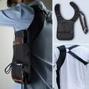 Nylon anti-theft hidden underarm shoulder bag