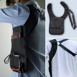 Nylonowa anty-kradzieży ukryta torba na ramię pod pachę