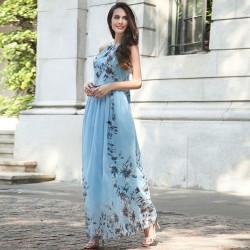 Maxi robe florèale de chiffon