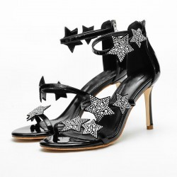 Crystal Stars Sandalen mit hohen Absätzen