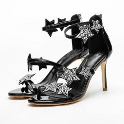 Sandali alti con cristalli