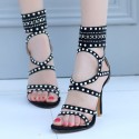 High heel ankle sandals
