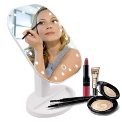 Folding adjustable touch screen make up mirror LED