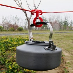 Multifunctionele outdoor camping aluminium touwhanger gesp 5 stuks