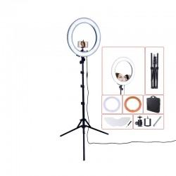 "Luz para fotografìa con trìpode espejo RL-18"" 55W 240 LED 5500K"