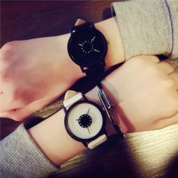 Reloj de cuàrzo de cuero unisex