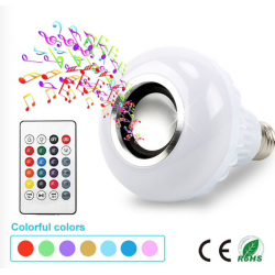E27 Smart RGB LED Lamp Bluetooth Luidspreker