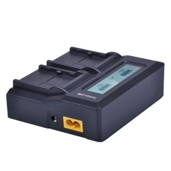 Rapid LCD dual li-Ion battery charger for Topcon BT 65Q BT65Q GTS 900 & GPT 9000