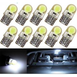 T10 W5W LED COB samochodowe światło lampa żarówka 10 pcs