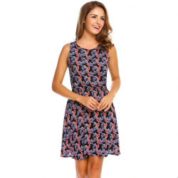 Kwiatowy nadruk krótka sukienka
